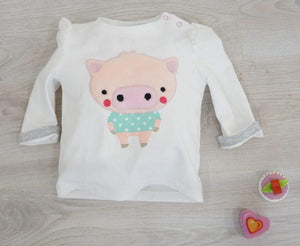 Blade and Rose Pig Princess Sleeve Cotton/Spandex Tee 小豬全棉彈力嬰兒(公主袖)長袖衫