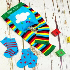 Blade and Rose Rainbow Socks 七彩小雲純棉嬰兒襪 (一包兩對)-Blade and Rose-shopababy
