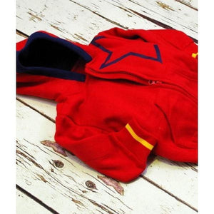 Blade and Rose Red Star Hoodies Jacket 紅紅色毛毛內埋外套-Blade and Rose-shopababy