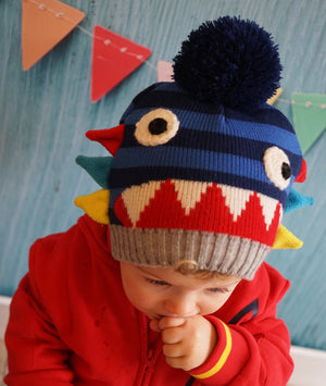 ZIGGY BOBBLE HAT & MITTEN SET ZIGGY怪獸嬰兒冷帽+手襪 套裝-Blade and Rose-shopababy