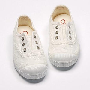 Embroidered Toecap White白色提花Toecap帆布鞋(EU32)