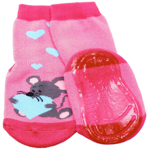 EWERS PINK MICE ANTI-SLIP BABY SOCKS 德國粉老鼠嬰兒跑跑防滑襪-Ewers Aus Liebe-shopababy