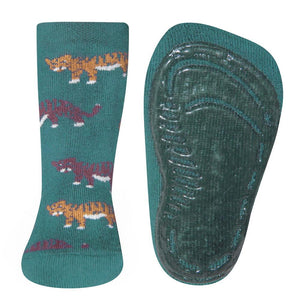 Ewers Tiger Green Anti Slip Socks 德國墨綠小老虎嬰兒防滑襪 (9-12m/12-18m)