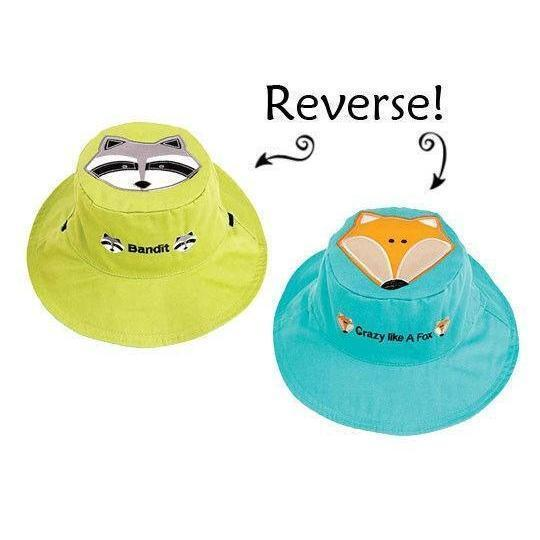Flapjack Fox & Raccoon UV Hat 浣熊太陽嬰兒帽-Flapjack Hat-shopababy