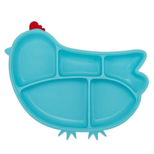 Innobaby Silicone Chicken Plate with Suction 嬰兒叮叮雞雞吸盤 (3個顏色)-Innobaby-shopababy