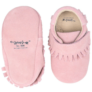 JplusJ Dusty Pink Suede Leather Baby Shoes 豆沙紅一級全麂皮學步鞋 (6-12)