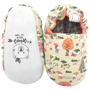 JplusJ Gnomes Cream Baby Shoes 杏色小矮人學步鞋