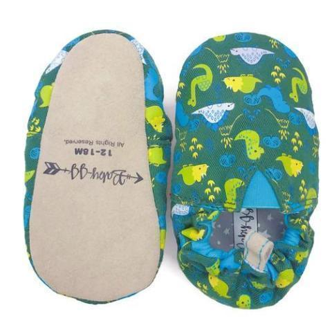 JplusJ Green Dino Baby Shoes 墨綠恐龍學步鞋 (24-30)