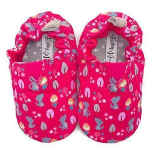 JplusJ Pink Little Red Riding Hood Baby Shoes 棗紅小紅帽學步鞋-Rilakkuma-shopababy