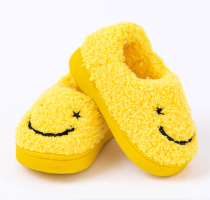 Ozkiz Smily Face Baby Home Slippers 哈哈笑毛毛室內拖鞋 oz127 (140-200)