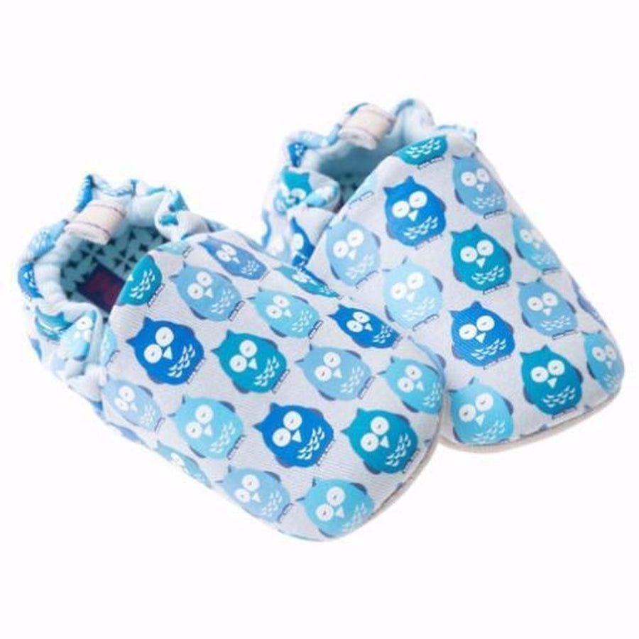 Poco Nido Blue Owls Mini Shoes 藍色貓頭鷹嬰兒學步鞋-Poco Nido-shopababy