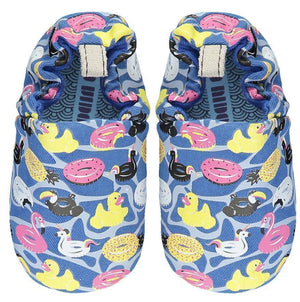 Poco Nido Pool Floats Baby Shoes 藍色小鴨派對學步鞋 (6-12)