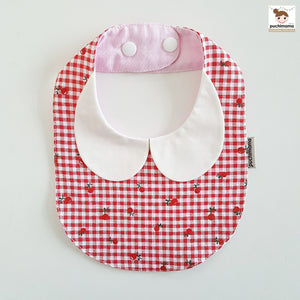 Puchimama PAB0024G Berries Collar Bib 草莓純棉嬰兒口水巾-Puchimama-shopababy