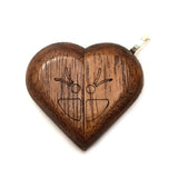 Illusionist Locket- Butterfly/Flower (Walnut)