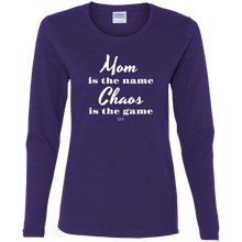 MOM IS THE NAME -  Ladies' Cotton LS T-Shirt