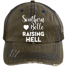 SOUTHERN BELLE - Distressed Unstructured Trucker Cap