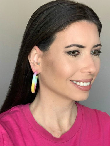 Pastel Ombre Hoop Earrings