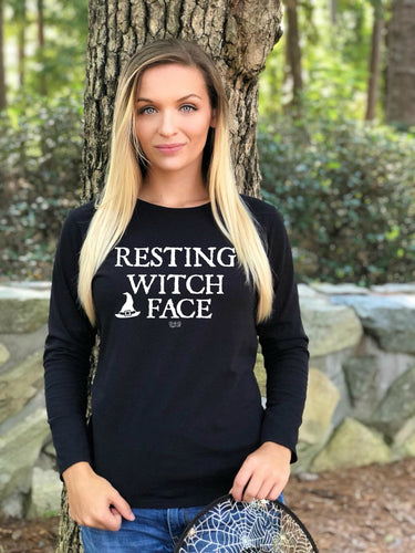RESTING WITCH FACE - LS T-Shirt