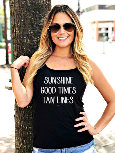 SUNSHINE -  Relaxed Jersey Tank