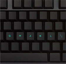 KeyMaster Electronics blackout keyboard for touch typing mastery
