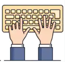 hands on keyboard image