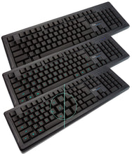 KeyMaster Learning Lights Computer Keyboard Classroom Edition for Student Touch Type Mastery show or hides key lettering for student typing practice to increase WPM