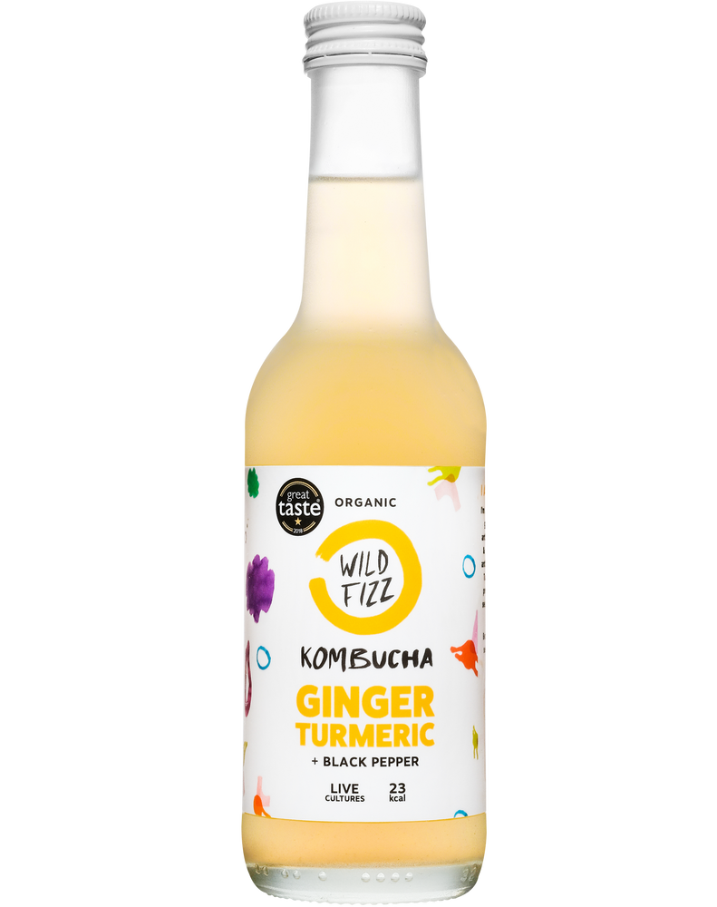Ginger Turmeric (Case of 12) - Wild Fizz Kombucha brewed in London
