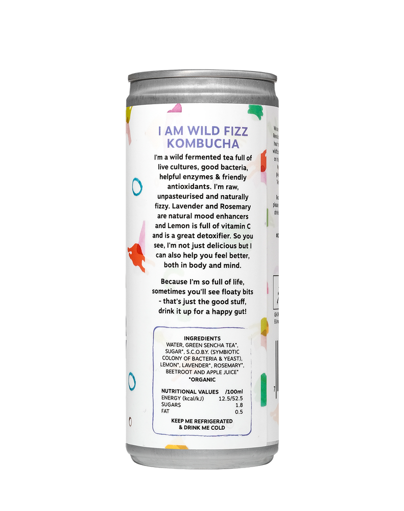 Lavender Rosemary (Case of 12) - Wild Fizz Kombucha brewed in London