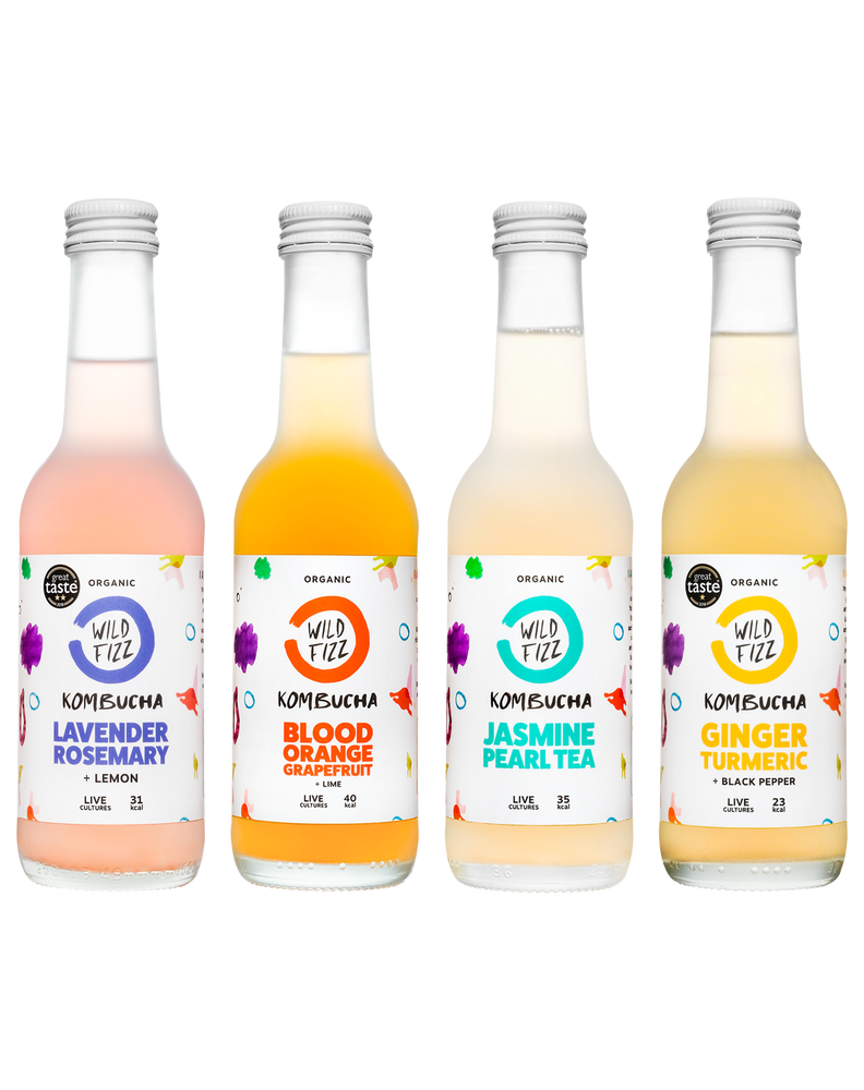 Rainbow Pack (Case of 12) - Wild Fizz Kombucha brewed in London
