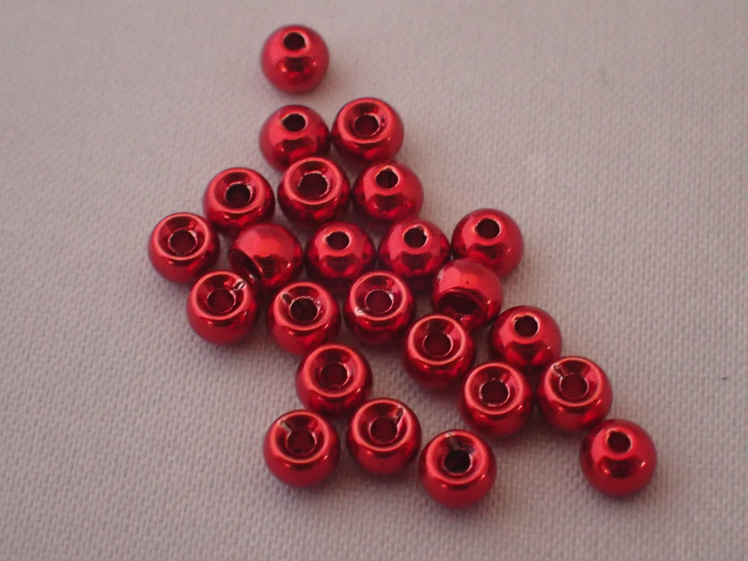 Hazard Fly Fishing Countersunk Metallic Beads
