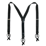 Tommy Hilfiger Men`s 32mm Suspenders,Black/Tone on Tone, One Size