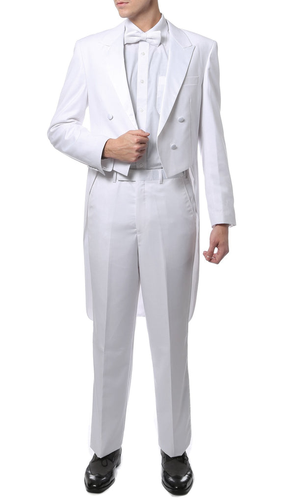 Premium A201 Regular Fit White Tail Tuxedo - Ferrecci USA