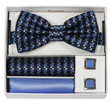 Adolfo Fancy Pattern Bow Tie Hanky & Cufflink Box Set - ABS70660