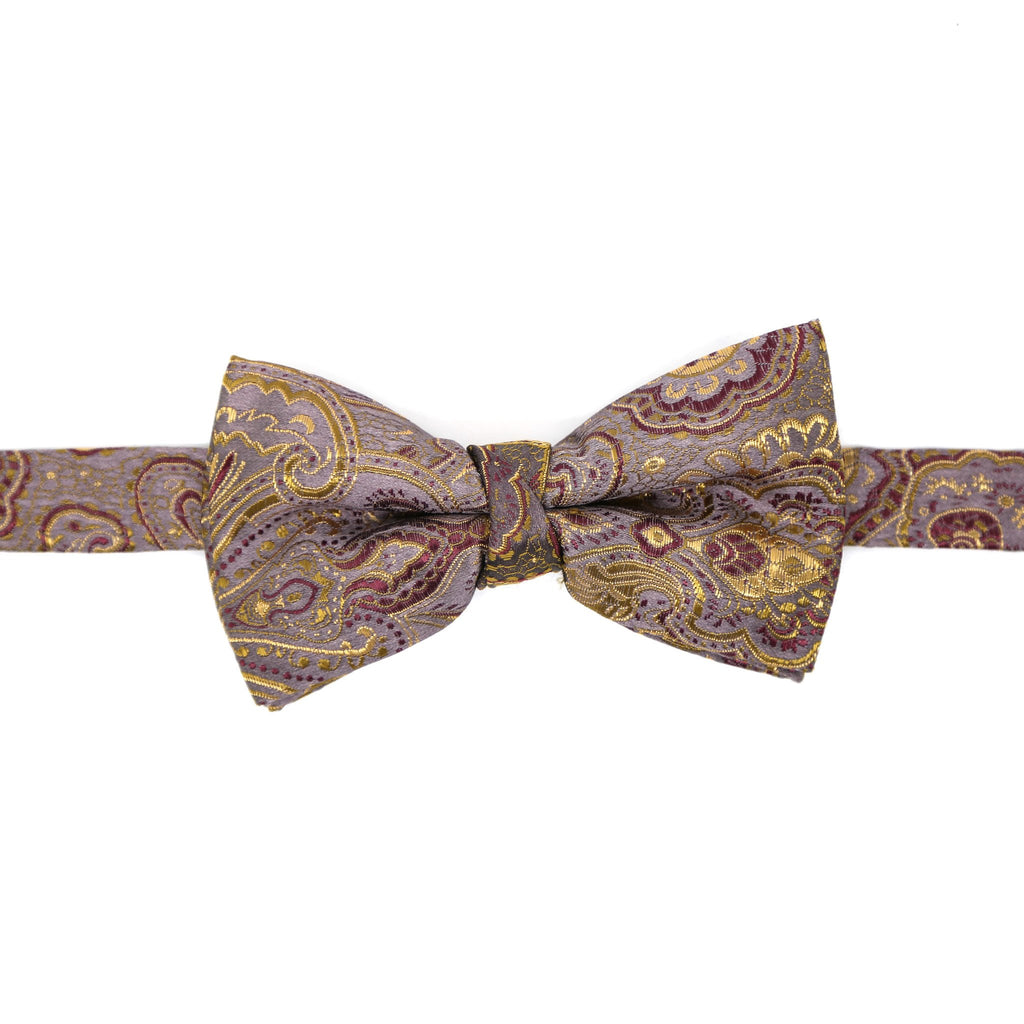 Luxury Paisley Tapestry Lavender Bow Tie - Ferrecci USA