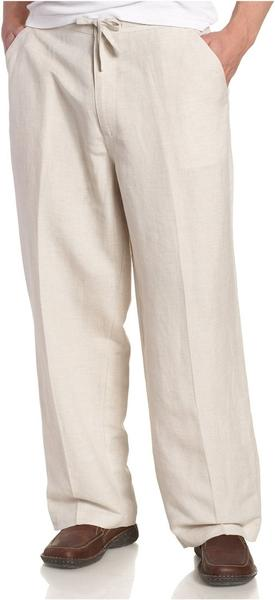 Natural Tan Linen Pants
