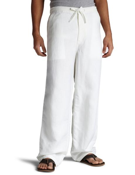 Natural White Linen Pants