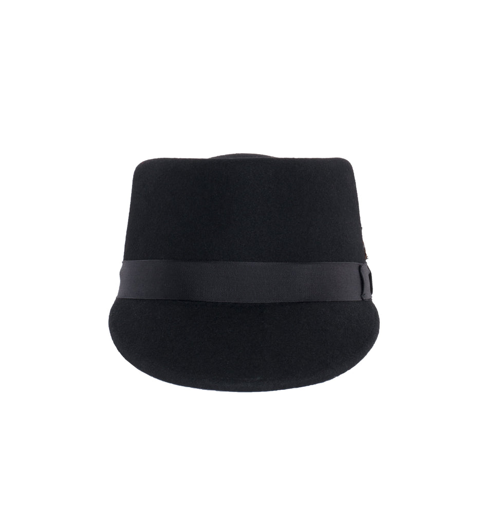 Modern Conductor Train Engineer Hat - Black - Ferrecci USA