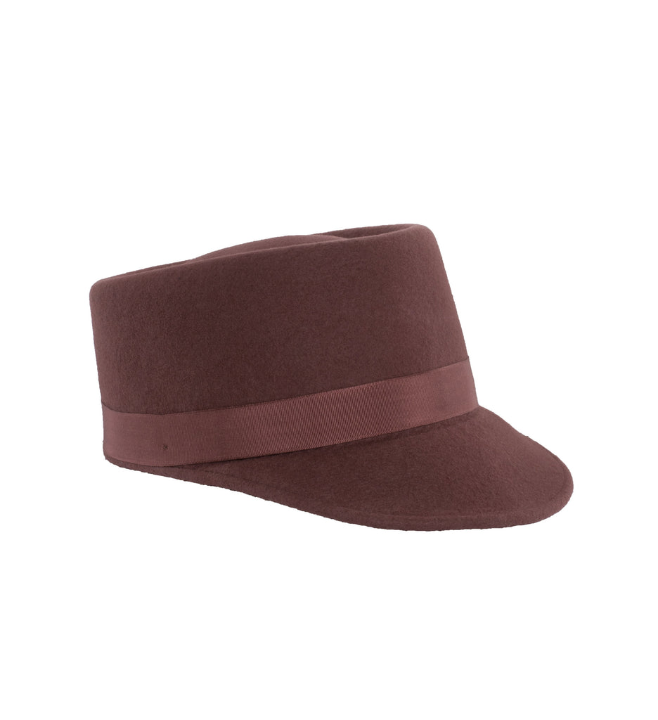 Modern Conductor Train Engineer Hat - Rust - Ferrecci USA
