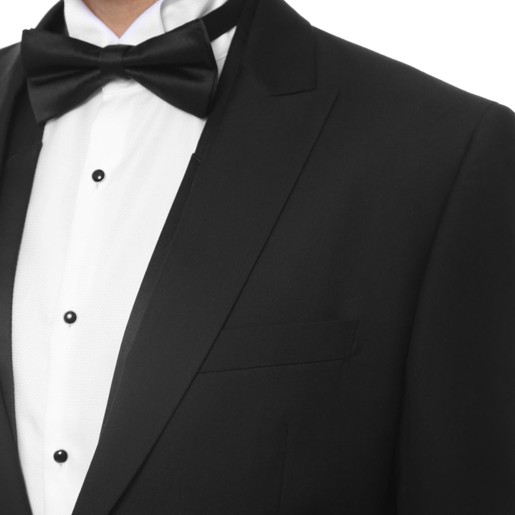 Mens Black Cutaway Regular Fit Tuxedo 2pc Suit - Ferrecci USA