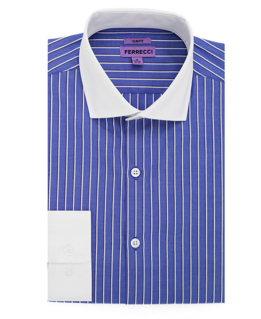 The Duncan Slim Fit Cotton Dress Shirt - Ferrecci USA