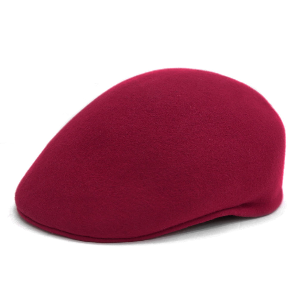 Classic Premium Wool Light Burgundy English Hat - Ferrecci USA