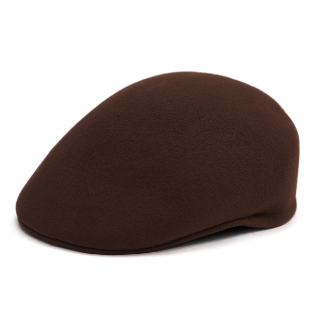 Classic Premium Wool Chocolate English Hat - Ferrecci USA