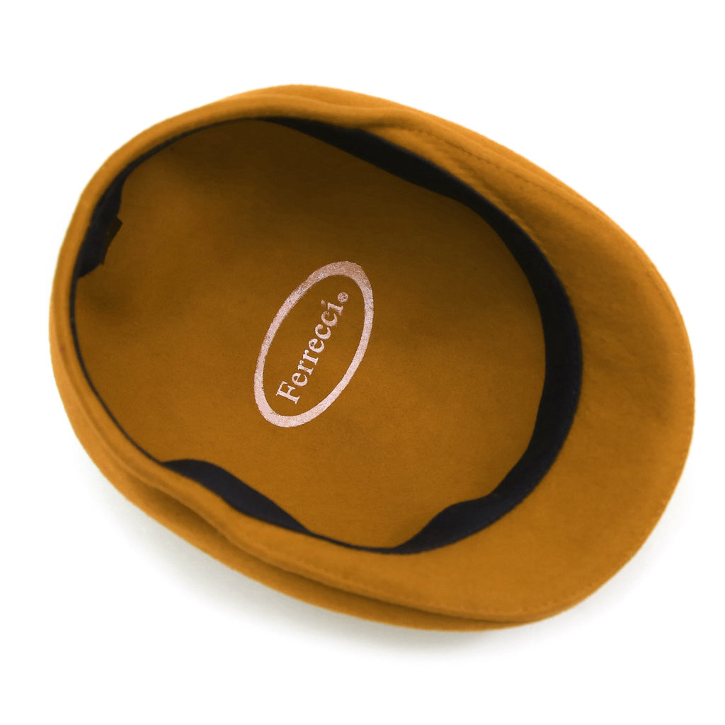 Classic Premium Wool Gold English Hat - Ferrecci USA