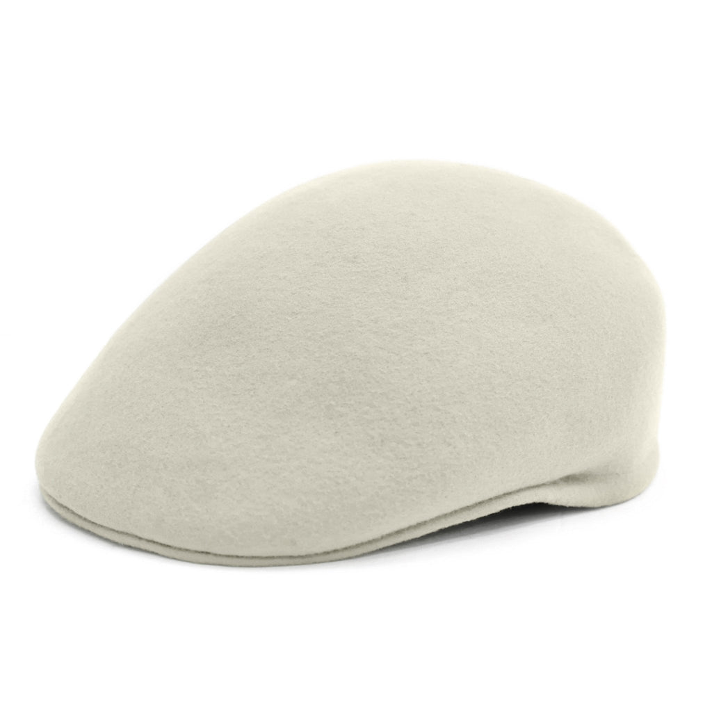Classic Premium Wool Off White English Hat - Ferrecci USA