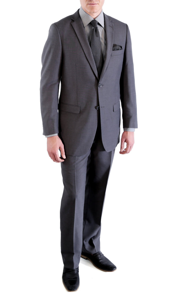 Charcoal Regular Fit Suit - 2PC - FORD - Ferrecci USA