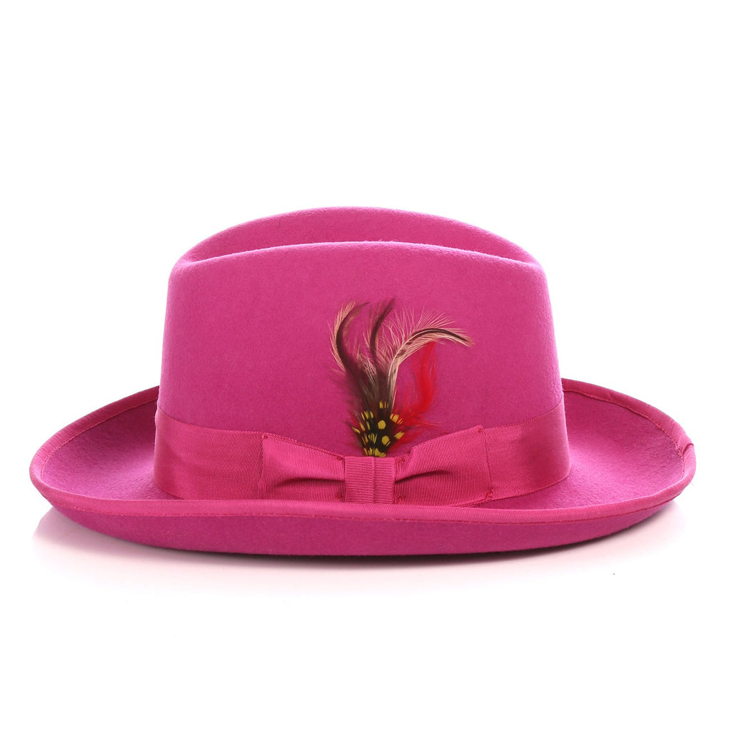 Ferrecci Premium Fuchsia Godfather Hat - Ferrecci USA