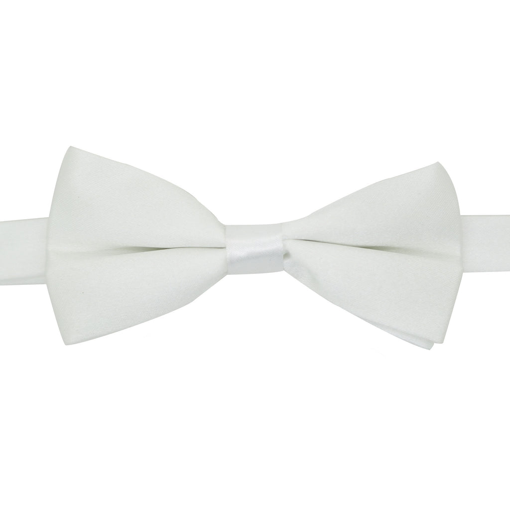 Gia White Satine Adjustable Bowtie - Ferrecci USA