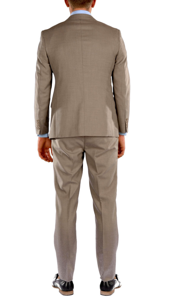 Brown Slim Fit Suit - 2PC - HART - Ferrecci USA