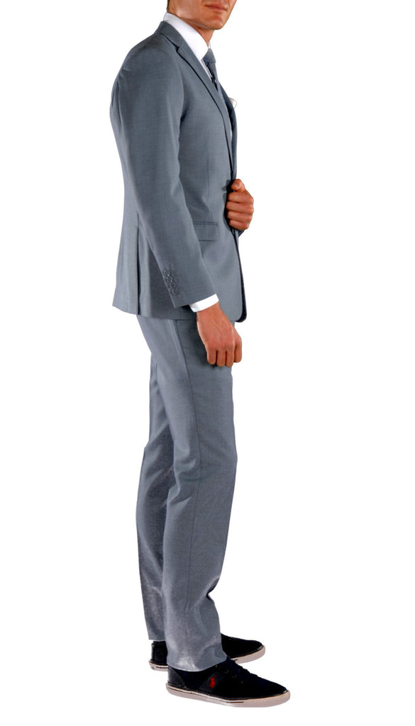 Light Blue Slim Fit Suit - 2PC - HART - Ferrecci USA