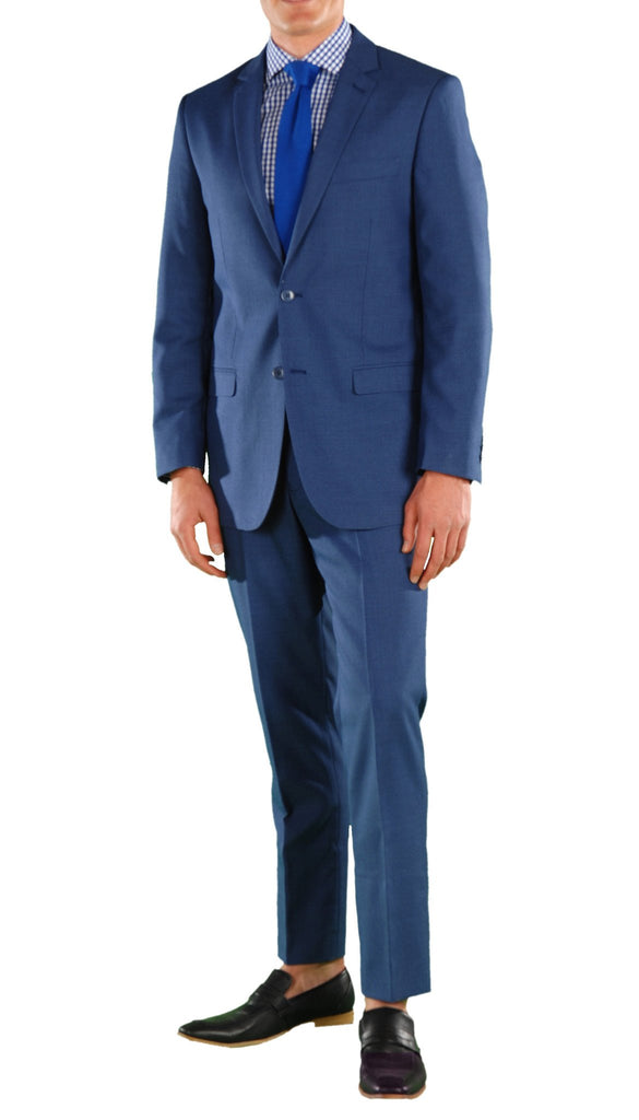 New Blue Slim Fit Suit - 2PC - HART - Ferrecci USA